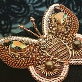 """Брошь-бабочка """"Golden Butterfly"""""""