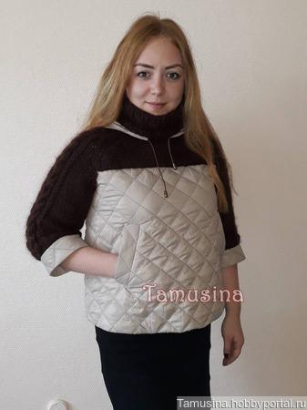 Свитер-куртка-анорак Мокко ручной работы на заказ