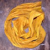 Шарф льняной длинный, натурально окрашенный шарф из льна