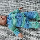 Вязаный комплект из бамбука для новорожденного