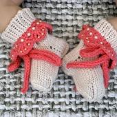 Носочки для новорожденного вязаные полушерстяные