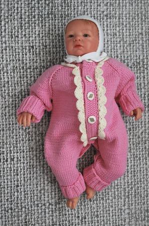 Вязаный детский шерстяной комбинезон с отделкой ручной работы на заказ