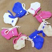Шерстяные носочки для новорожденного
