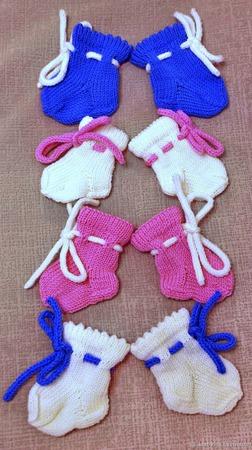 Шерстяные носочки для новорожденного ручной работы на заказ