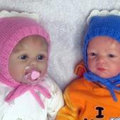 Шерстяная шапочка-чепчик для новорожденного