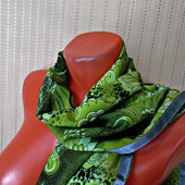Палантин ручной работы «Зеленая фея» модель 1