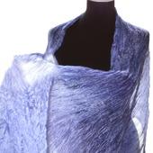 Шарф лавандовый светло сиренево серый натуральный шёлк