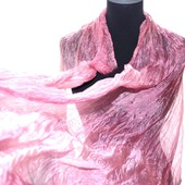 Шарф палантин розово серый шелковый женский, купить шарф