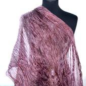 Большой шелковый шарф вересковый лиловый натуральный шелк эксельсиор