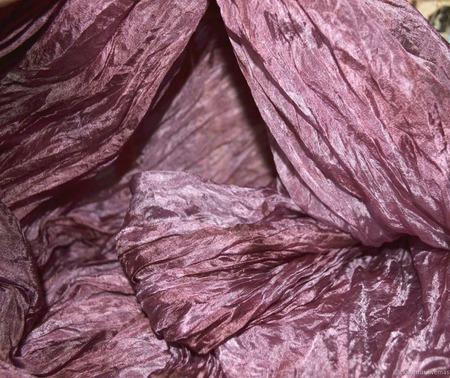 Большой шелковый шарф вересковый лиловый натуральный шелк эксельсиор ручной работы на заказ