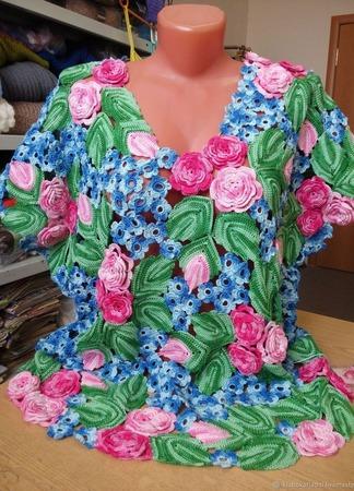 """Комплект """"Розовые розы"""" ручной работы на заказ"""
