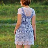 Платье белое ажурное