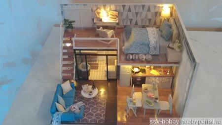 Кукольный домик с освещением ручной работы на заказ