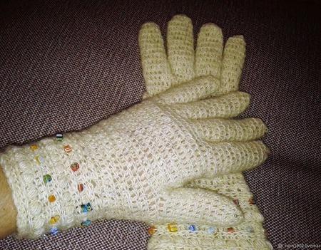 """Перчатки """"Бусинка"""" ручной работы на заказ"""