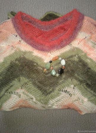 """Мохеровый пуловер """"Изящество"""" ручной работы на заказ"""
