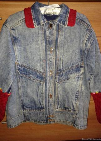 """Куртка """"Джинсовый винтаж"""" ручной работы на заказ"""