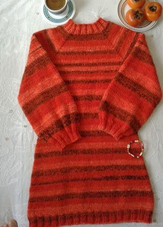 """Платье-свитер """"Спелая ягода"""" ручной работы на заказ"""