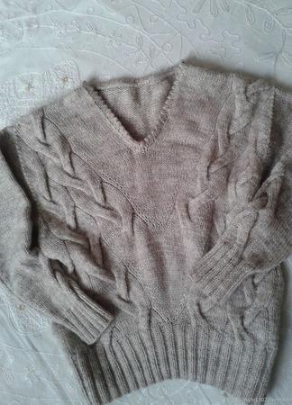 Мягкий пуловер ручной работы на заказ