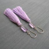 """Серьги-кисти """"Lilac silk"""" из серебра с аметистами"""