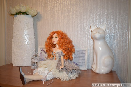 Коллекционная авторская кукла Агния ручной работы на заказ