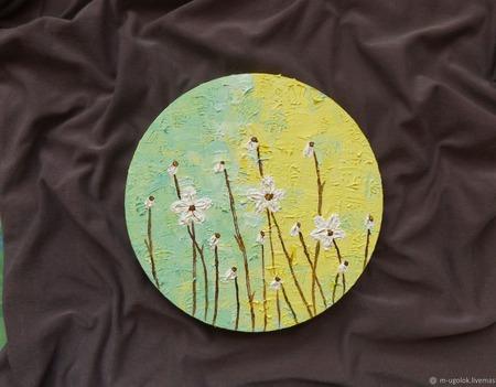 """Картина маслом """"У души цветочное настроение"""" ручной работы на заказ"""