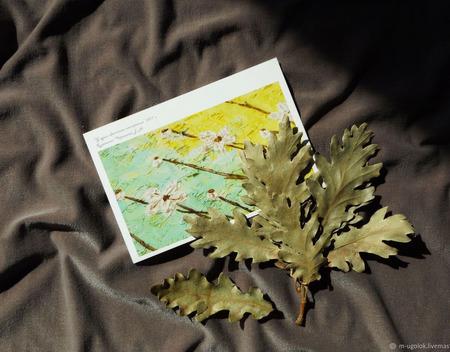 """Почтовая открытка """"У души цветочное настроение"""" ручной работы на заказ"""
