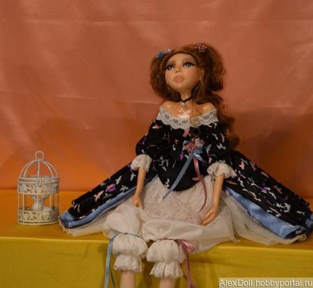 Коллекционная авторская кукла Стефани ручной работы на заказ