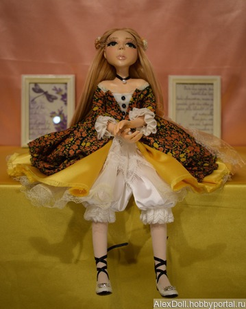 Коллекционная авторская кукла Лулу ручной работы на заказ