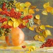 Осенний букет с рябиной