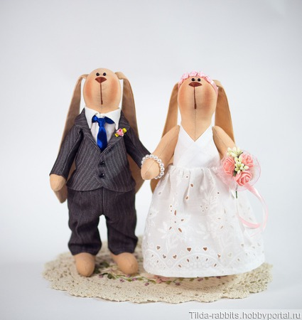 Интерьерные зайчики на свадьбу ручной работы на заказ