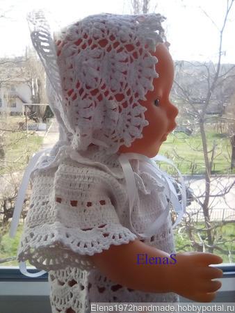 Хлопковый комплект- чепчик и рубашечка ручной работы на заказ