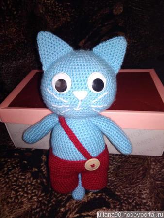Синий кот ручной работы на заказ