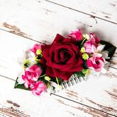 Гребешок с розой