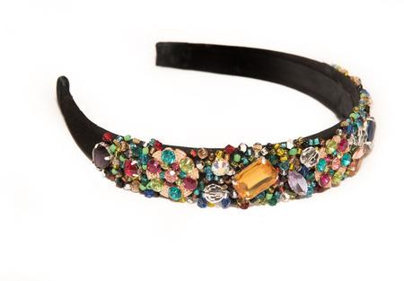 Тиара - ободок с камнями и бисером ручной работы на заказ