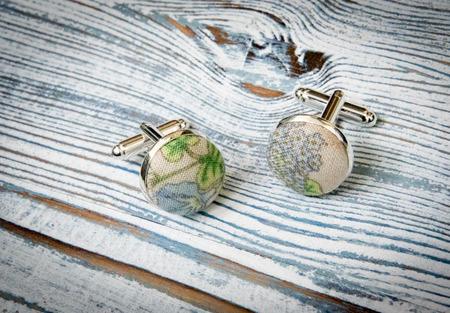Комплект бабочка и запонки в сельском стиле ручной работы на заказ