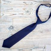 Детский галстук темно-синий