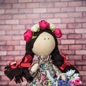 Интерьерная текстильная кукла Веснянка