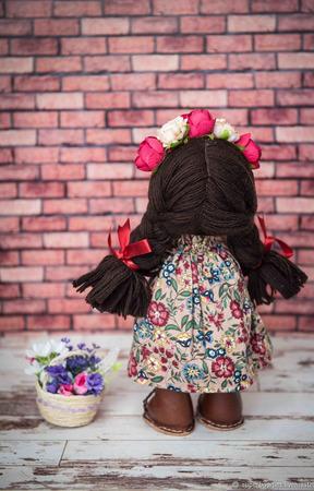Интерьерная текстильная кукла Веснянка ручной работы на заказ