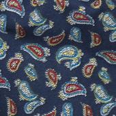 Шейный платок восточные огурцы на синем
