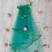 Фата для девичника зелёная