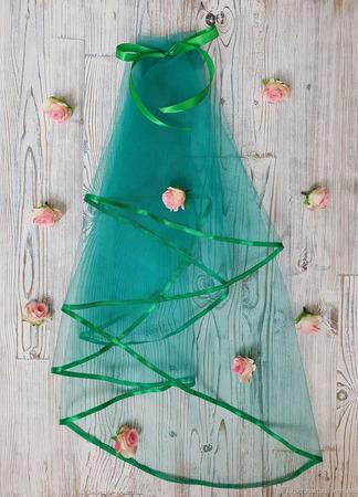Фата для девичника зелёная ручной работы на заказ