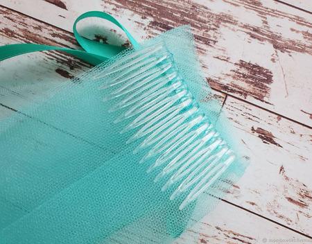 Фата для девичника мятная ручной работы на заказ