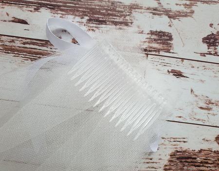 Фата для девичника белая ручной работы на заказ