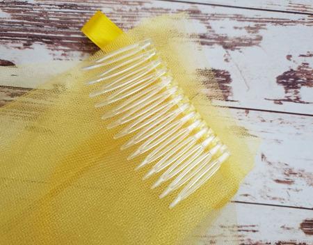 Фата для девичника желтая ручной работы на заказ
