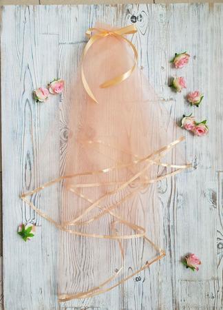 Фата для девичника персиковая ручной работы на заказ