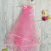 Фата для девичника розовая