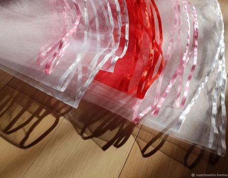 Фата для девичника красная ручной работы на заказ