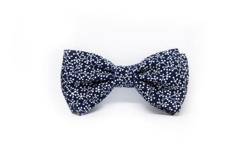 Галстук-бабочка темно-синяя с пузырьками ручной работы на заказ