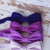 Галстуки-бабочки в фиолетовой гамме