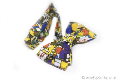 Галстук-бабочка Симпсоны ручной работы на заказ
